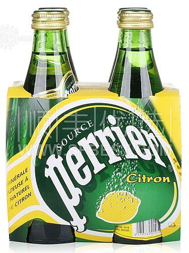 巴黎 天然有气柠檬味矿泉水 330ML*4瓶(法国进口),12.9元包顺丰快递